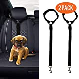 (2 Pack) Adjustable Dog Seat Belt and Harness Collar For Pet Transportation and Travel Safety