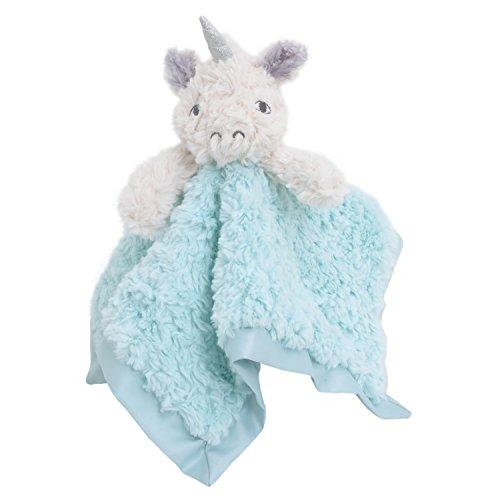 Cuddle Me Luxury Plush Security Blanket, Unicorn, Aqua/Ivory