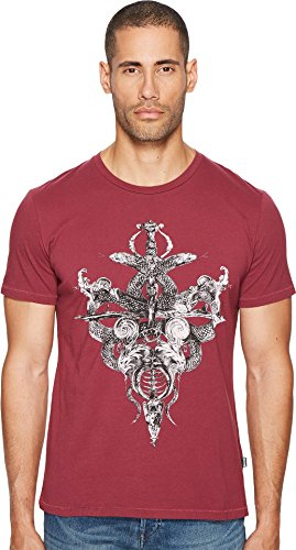 Just Cavalli  Men's Skeleton T-Shirt Damson - Men Cavalli Just For