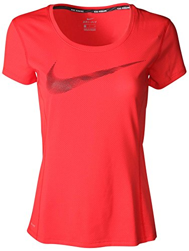 Nike Women's Dri-Fit Contour GPX Running Shirt-Red-XS