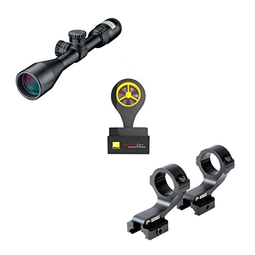 Nikon 16387 P-223 Range Ready Kit 3-9x40 wP-Series Mount with Windmeter (Black)