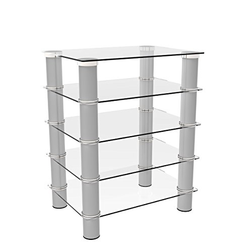 (Ryan Rove Hamlin Glass Component Stand in Silver)