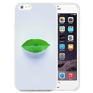 NEW Unique Custom Designed iPhone 6 Plus 5.5 Inch Phone Case With Simple Green Leaf Minimal_White Phone Case