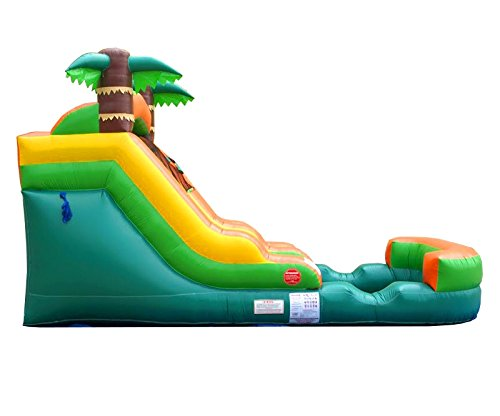 Pogo Bounce House Inflatable Water Slide, 12-Foot Tall, 21-Foot Long, 9-Foot Wide, Crossover Tropical Oasis Complete, with Included Blower, Stakes, Repair Kit, and Storage Bag by Pogo Bounce House (Image #2)