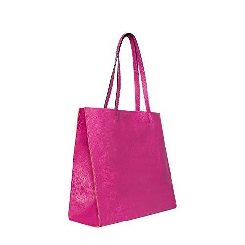 Cuero Tela weiss Pink Blanco Mujer Para Bolso 5100 De Skutari Otro 5151 qzaERIwz