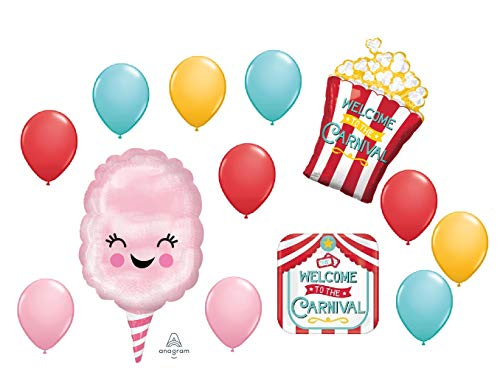 13 BALLOONS new CARNIVAL circus POPCORN cotton CANDY any occasion FAVORS -