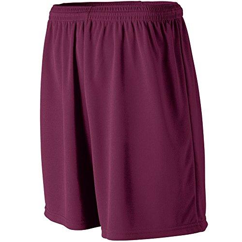 - Augusta Sportswear MEN'S WICKING MESH ATHLETIC SHORT L Maroon