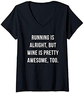[Featured] Womens Running Wine Is Awesome - Running Wine V-Neck in ALL styles | Size S - 5XL