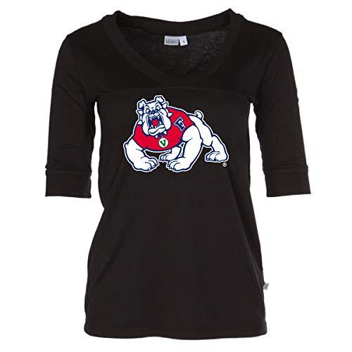 Official NCAA Fresno State Bulldogs - Women's 3/4 Sleeve Football Jersey