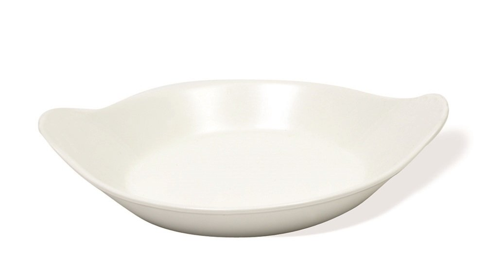 White Basics Collection, Oval Au Gratin Dish, 9.9'', White