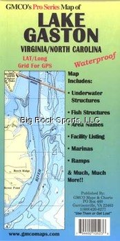 GMCO 10500PS Lake Gaston Map by GMCO