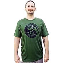 Green Twine Hemp Clothing - 100% Eco Friendly, Yin Yang Design, Unisex Organic Hemp T-Shirt With Organic Cotton