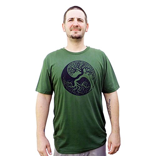 HEMP-CLOTHING-100-Eco-Friendly-YinYang-Design-Unisex-Hemp-Shirt-with-Organic-Cotton
