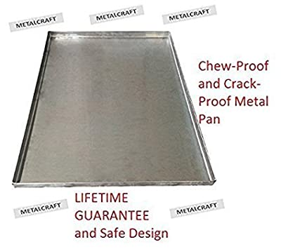 Pinnacle Systems Replacement Tray for Dog Crate - Chew-Proof and Crack-Proof Metal Pan for Dog Crates