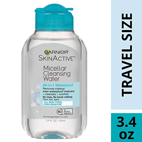 Garnier SkinActive Micellar Cleansing Water, For Waterproof Makeup, 3.4 Ounce ()
