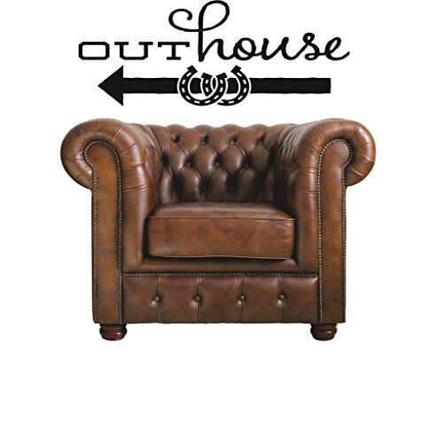 Design With Vinyl RAD V 343 1 Outhouse Vintage Sign Weste...
