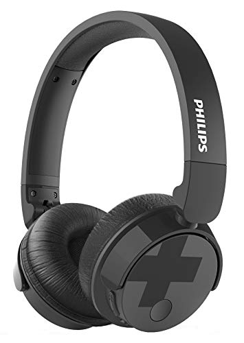 Philips Bass+ TABH305BK Active Noise Cancelling Wireless Headphones, Up to 18 Hours of Playtime (Canceling Noise Philip)