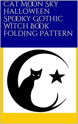 (Cat Moon Sky Halloween Spooky Gothic Witch Book Folding)