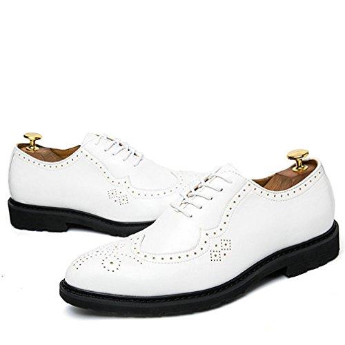 punta accento Xianshu up scarpe scarpe casual Bianco Lace SU8PqfX