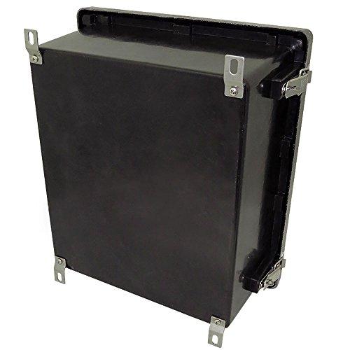 Altelix 14x12x6 FRP Fiberglass Stealth Black NEMA Box Weatherproof Enclosure with Hinged Lid & Stainless Steel Latches by Altelix (Image #4)