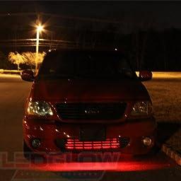 LEDGlow Red SMD LED Slimline Underbody Underglow Car Light Kit