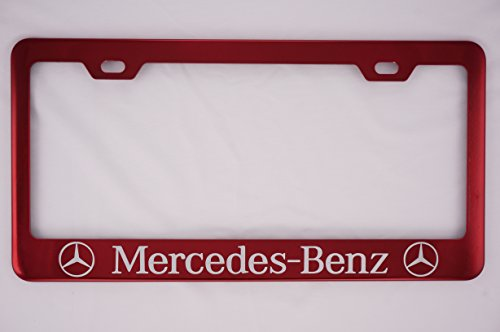 Mercedes-Benz Red License Plate Frame (Candy License Plate Frame)