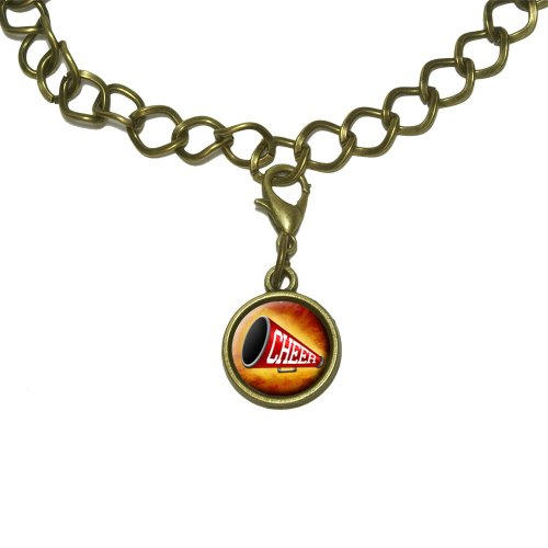 - Cheerleading Megaphone Charm with Chain Bracelet