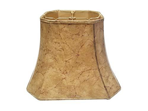 Royal Designs Square Cut Corner Bell Basic Lamp Shade, Faux Rawhide, 9 x 16 x 13