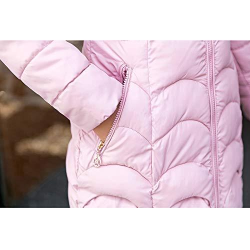Mince Rose Coat Matelassé Amuster Casual Capuche Femmes Elégante Manteau Fourrure Duvet Outerwear Hiver Chaude À q6wpaxg