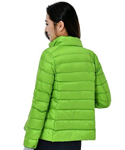 Vert Puffer Bas Manteau Vers Légère Le Veste Emballable Court Zinsale Femme zH8qUn