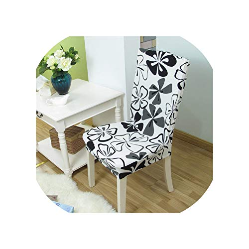 1/2/4/6PCS Geometry Spandex Chair Cover Dining Washable slipcover for seat Elastic Kitchen Chair Covers Stretch Furniture Covers,Color 23,6 pcs Chair Covers (Kmart Covers Outdoor Furniture)