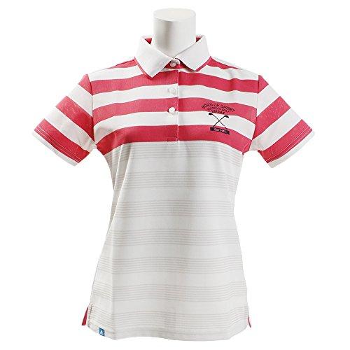 アディダス Adidas 半袖シャツ?ポロシャツ ADICROSS パネルストライプ 半袖ポロシャツ レディス ホワイト L