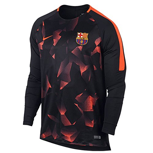 2017-2018 Barcelona Nike Dry LS Squad Training Shirt (Black)