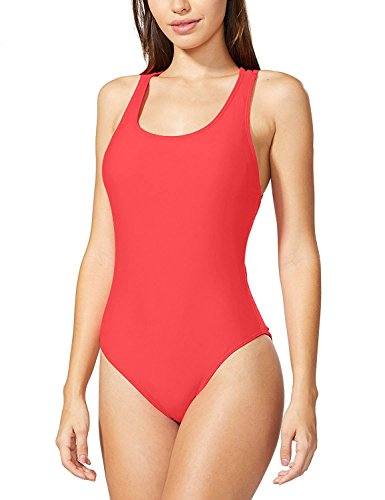HOYEER Women's Sexy Cross Swimsuits One Piece Retro Back Bathing Suits Large