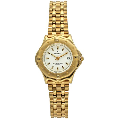 Peugeot 183WT Women's Gold-tone White Dial Watch