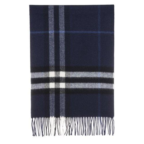 Burberry Women's Check Fringe Scarf Blue