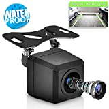 PYLE Universal Mount Front Rear Camera - Marine Grade Waterproof Built-in Distance Scale Lines Backup Parking/Reverse Assist Cam w/ Night Vision LED Lights 420 TVL Resolution & RCA Output - PLCM37FRV