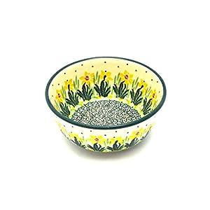 Polish Pottery Bowl – Ice Cream/Dessert – Daffodil