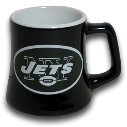 Boelter New York Jets 2 Ounce Sculpted Ceramic Mini Shot Glass Mug - Series 2