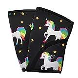 Liberte Lifestyles 5mm Reversible Unicorn Galaxy Print Knee Sleeves (Pair)