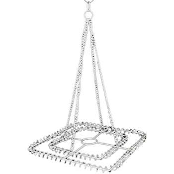Amazon.com: Large 2-Ring Square Chandelier Frame - Chrome Finish ...