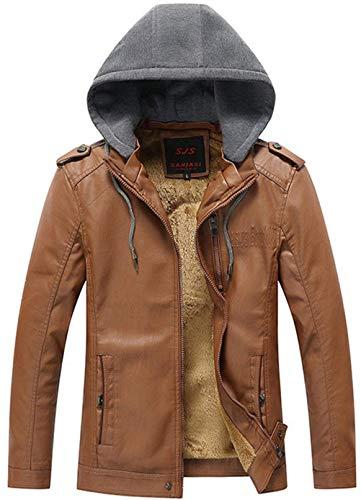 Giacche Con Cappuccio Giovane Pelle Invernale Khaki Da Uomo Ntel Pelliccia Fashion In 7xXIT7w