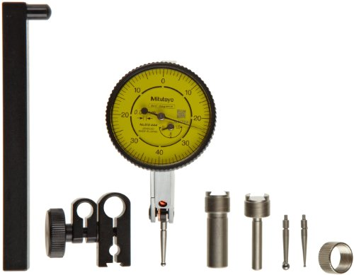 - Mitutoyo 513-444-10T Dial Test Indicator, 0-1.6mm Range, 0.01mm Resolution, 10 Micrometer Accuracy, 0-40-0 Dial Reading, Full Set