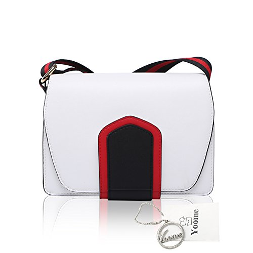 Yoome Contraste Color Belt Flap Maquillaje Bolsa Corea Bolsas Para Las Chicas Adolescentes Nuevos Chic Bolsas Para Las Mujeres - Blanco Blanco