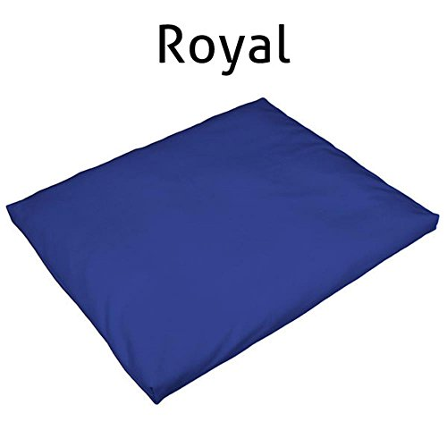(Sun and Moon Originals Deluxe Zabuton Cotton Meditation Mat - Made in the USA (Royal Blue))
