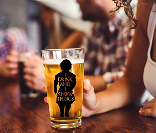 I Drink And I Know Things Beer Glass With Complimentary Shot Glass - Game Of Thrones Merchandise   Tyrion Lannister Funny Novelty Mug 8
