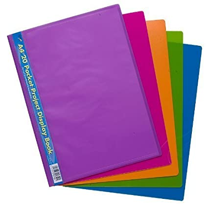 Amazon.com: Tiger A4 project display book 20 pockets (1 ...