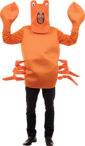 Under The Sea Themed Costume (Men's Under The Sea Stag Do Fancy Dress Party Animal Outfit Crab Costume)