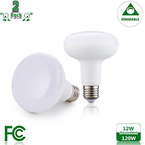 Medium 120 Volt Base R30 - (2-Pack) 12Watt Equivalent 120Watt LED BR30/R30 Dimmable Soft Light (3000K) Medium Base (E26) Flood Light 120V