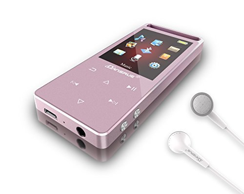 Dansrue MP3 Player with Bluetooth, 8GB Metal Digital Music Audio Player with Touch Button FM Radio Voice Record Pedometer Function, Included USB Cable + HD Sound Earphones